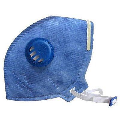 Respirador Pff2 Azul Com Válvula Ca 10578