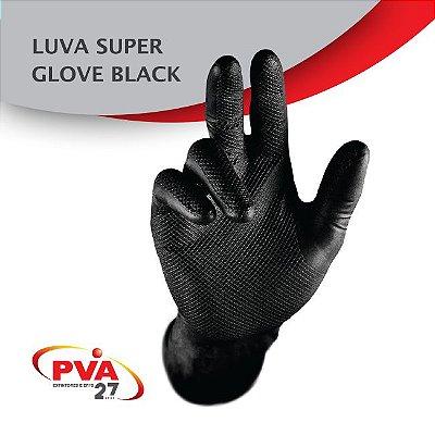Luva Nitrílica Preta Super Glove Ca 38645