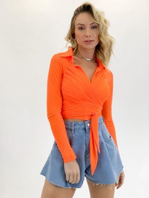 CROPPED CAMISA NEON