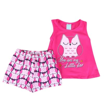 Pijama Curto Infantil Feminino You Are My Little Star