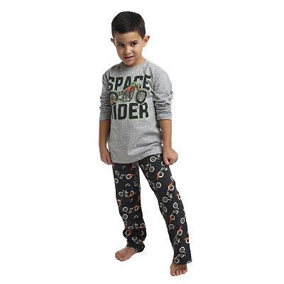 Pijama Longo Infantil Masculino Space Rider