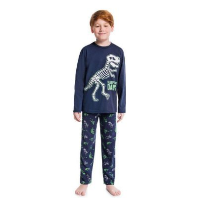 Pijama Longo Infantil Masculino Dinossauro Sleep For Days
