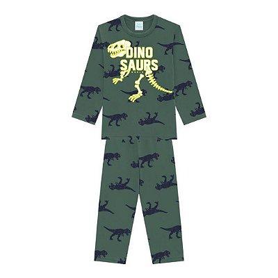 Pijama Longo Infantil Masculino Dinosaurs