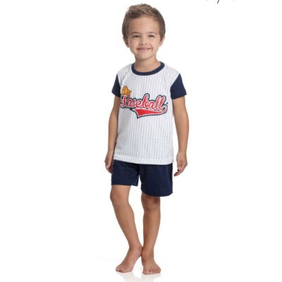 Pijama Curto Infantil Masculino Baseball