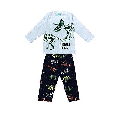 Pijama Longo Infantil Masculino Jungle King