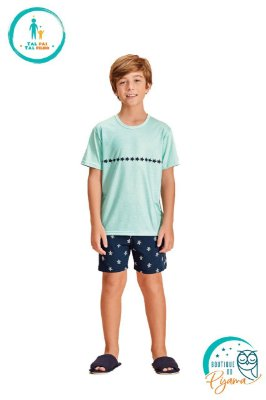 Pijama Curto Infantil Masculino Tartaruga
