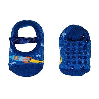 Sapatilha Antiderrapante Foguete Azul