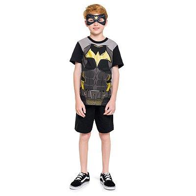 Pijama Curto Infantil Masculino Batman