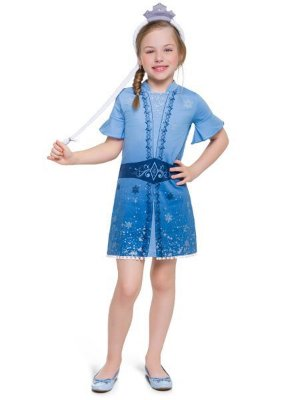 Camisola Curta Infantil Frozen Elsa
