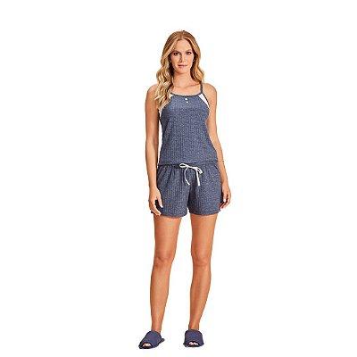 Pijama Curto Adulto Feminino Short e Blusa Regulável