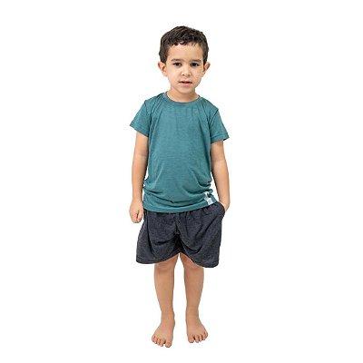 Pijama Curto Infantil Masculino Verde Musgo