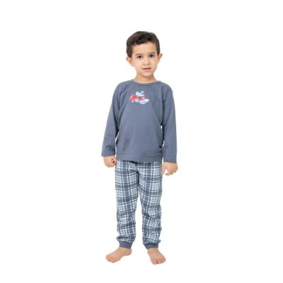Pijama Longo Infantil Masculino Little Dog In The Air