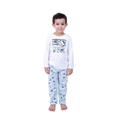 Pijama Longo Infantil Masculino Space