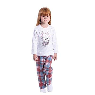 Pijama Longo Infantil Feminino Coelho Cute