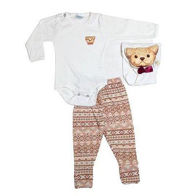 Conjunto Longo Bebê Pipoca