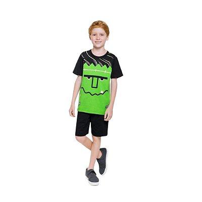 Pijama Curto Infantil Masculino Frankenstein