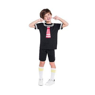 Pijama Curto Infantil Masculino Turma do Chaves - Kiko