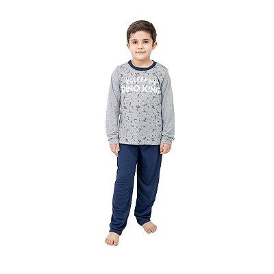 Pijama Longo Infantil Masculino Sleepy Dino King