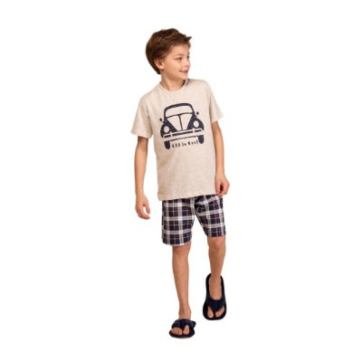 Pijama Curto Infantil Masculino Fusca Old Is Cool