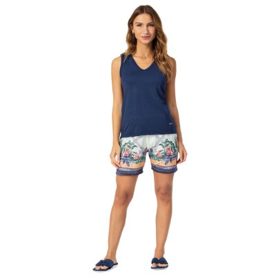 Pijama Curto Adulto Feminino Regata Bermuda