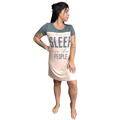 Camisola Curta Adulto Rose I Love Sleep More Than People
