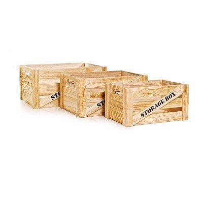 Caixotes Storage Mrf (Caixotes De Madeira) Jg C/3 Pc