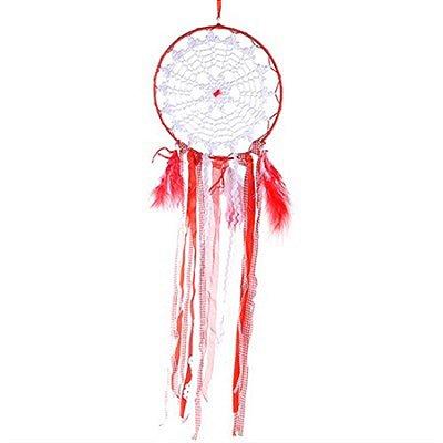 Filtro dos Sonhos Importado para Decoração 63 cm - Vermelho