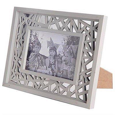 Porta-Retrato - Design Cinza - 23 x 29 cm