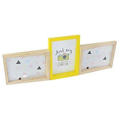 Porta-Retrato Triplo - Just Say Cheese - 54 x 19,5 cm