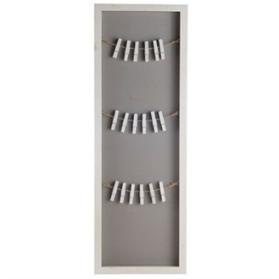 Porta-Recado Vertical com Varal - 20 x 60 cm