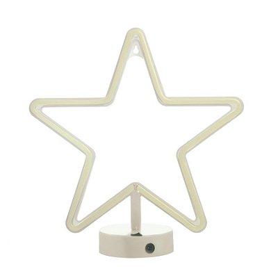 Silhueta De Led Estrela Branco 28,5X10X30,5 C/1 Un