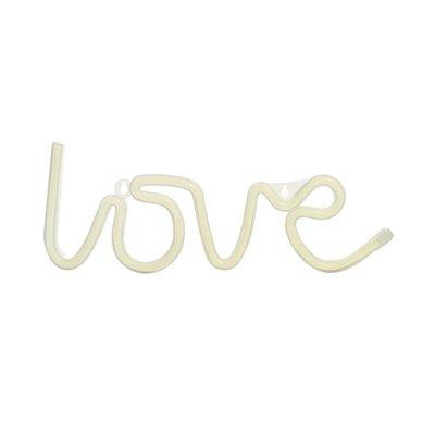 Silhueta De Led Love Branco 36,5X2X13,5 C/1 Un