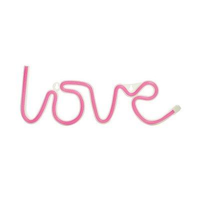 Silhueta De Led Love Rosa 36,5X2X13,5 C/1 Un