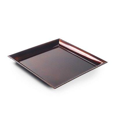 Base Plástica Quadrada Bronze M