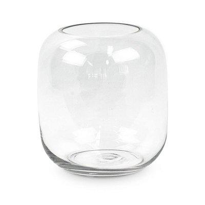 Cilindro de Vidro Transparente
