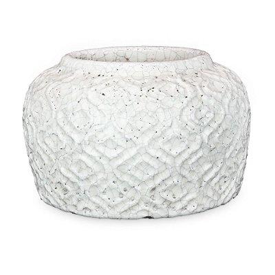 Vaso de Cerâmica com Decorado M