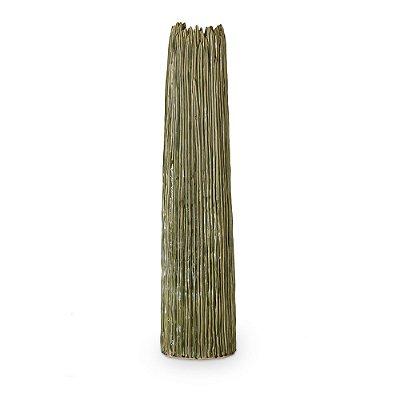 Vaso de Cerâmica com Textura Cor Verde G