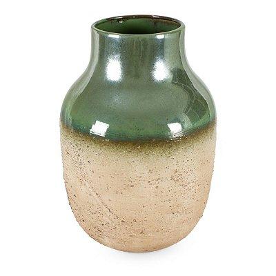 Vaso de Cerâmica com Degradê Verde Marrom M