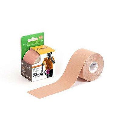 Bandagem Elástica Kinésio Tape Tmax 5m x 5cm Bege