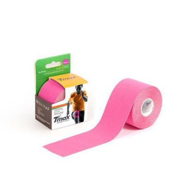 Bandagem Elástica Kinésio Tape Tmax 5m x 5cm Rosa