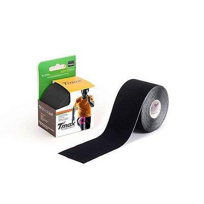 Bandagem Elástica Kinésio Tape Tmax 5m x 5cm Preto