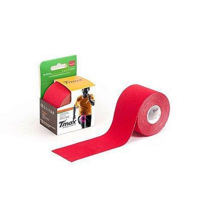 Bandagem Elástica Kinésio Tape Tmax 5m x 5cm Vermelho