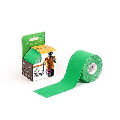 Bandagem Elástica Kinésio Tape Tmax 5m x 5cm Verde