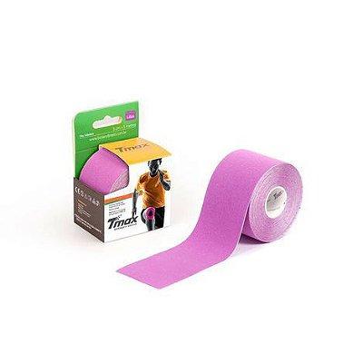 Bandagem Elástica Kinésio Tape Tmax 5m x 5cm Lilás