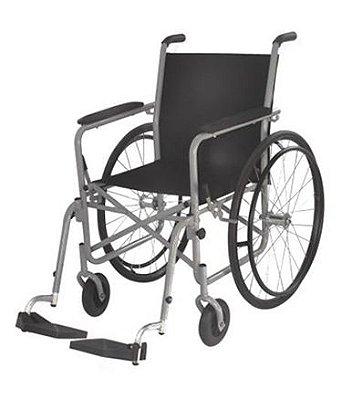 Aluguel Cadeira de Rodas Aço com Apoio Removíveis