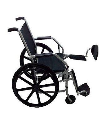 Aluguel Cadeira de Rodas Aço com Apoio de Pés Eleváveis