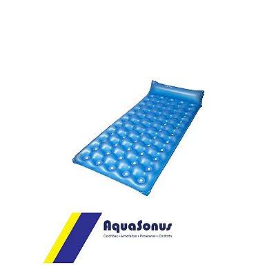 Colchão Inflável Caixa de Ovo Vazado Aquasonus Azul