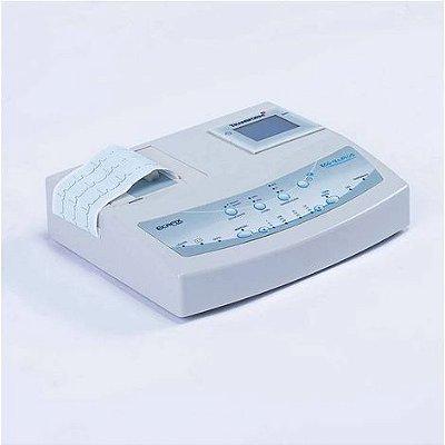 Eletrocardiógrafo 3 Canais 12 derivações com Bateria Interna Recarregável Memória e Display LCD ECG12S Plus Ecafix
