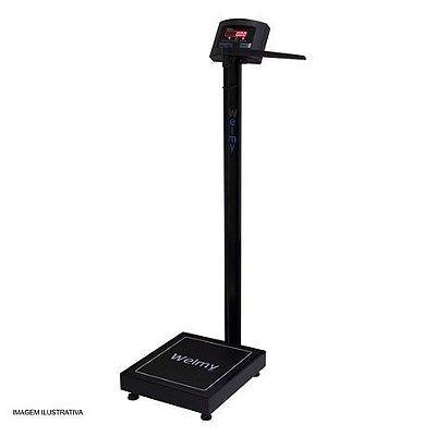 Balança Antropométrica Digital 200 Kilos Divisão 50 g W-200/50 A LED Cor Preta Welmy