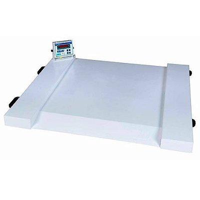 Balança Digital para Cadeirante com Rampa Incorporada 500kg Divisão 100g WPL Cadeirante Welmy
